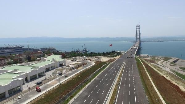 Osman Gazi Köprüsü'nde sona yaklaşılıyor