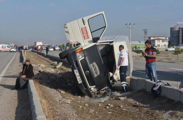 Konya'daki katliam gibi kaza ! Ölü ve yaralılar var...