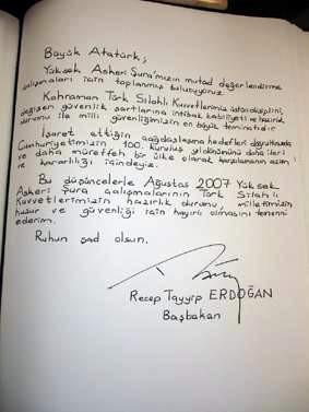 Başbakanın gerçek yazısı..