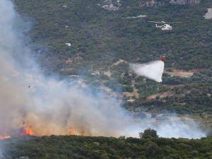 Karaburun'da yangın hızla yayılıyor !