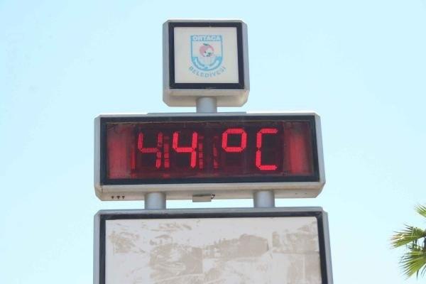Termometreler 44 dereceyi gördü