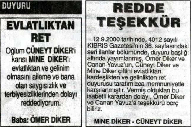 Komik gazete manşetleri ve ilanları