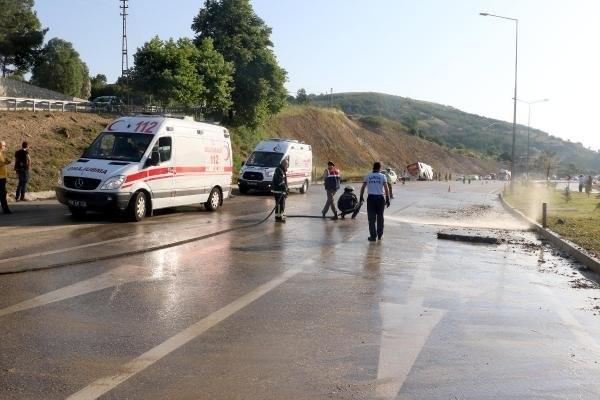 Samsun'da Yolcu Otobüsü Devrildi : 37 Yaralı