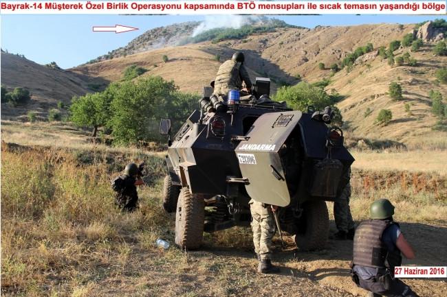 PKK'lıların kıstırıldığı o an !