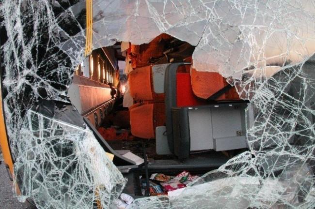 Elazığ'da otobüs kazası: 27 yaralı