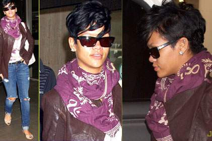 Rihannadan yırtık jean modası
