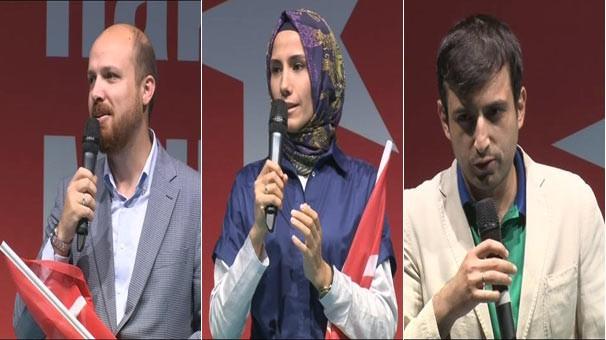 Erdoğan'ın çocukları Kısıklı'da konuştu