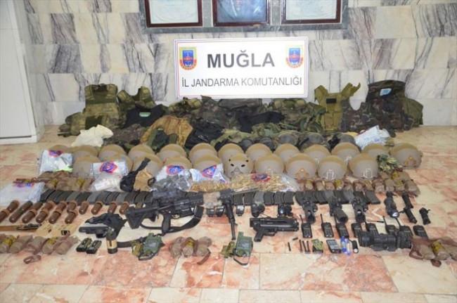 Marmaris'teki suikast timinin silahları bulundu