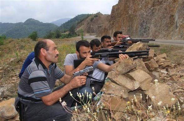 Ordu'da köylüler de terörist peşinde...