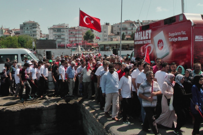 Yenikapı'daki mitingden fotoğraflar