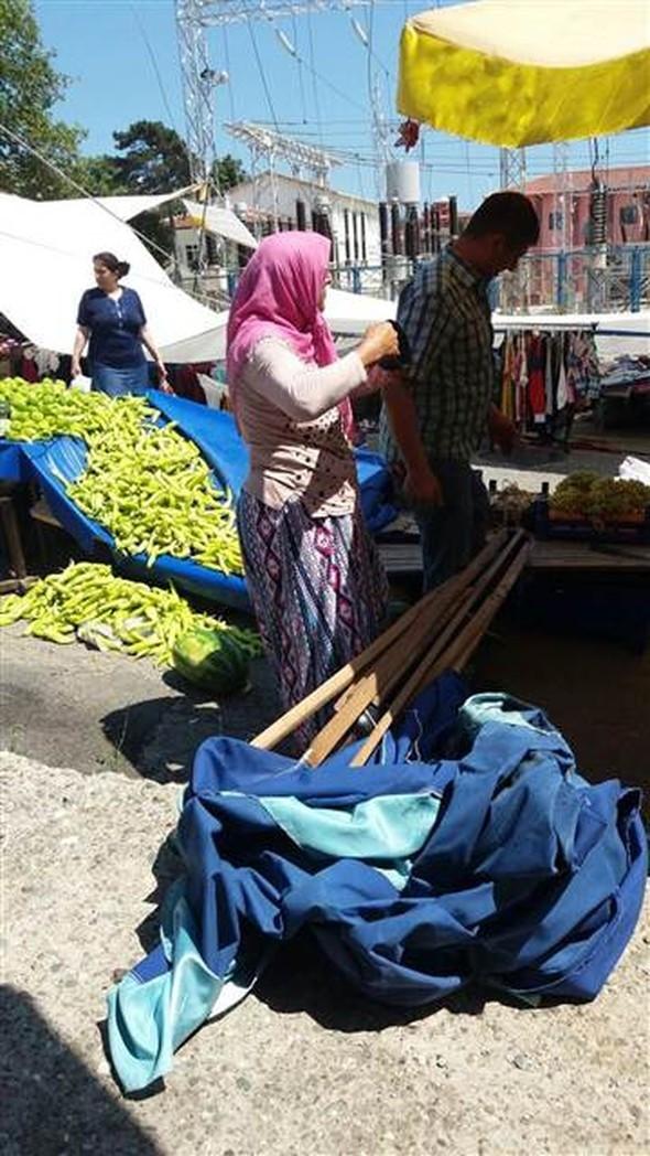 Halk pazarını birbirine kattı !