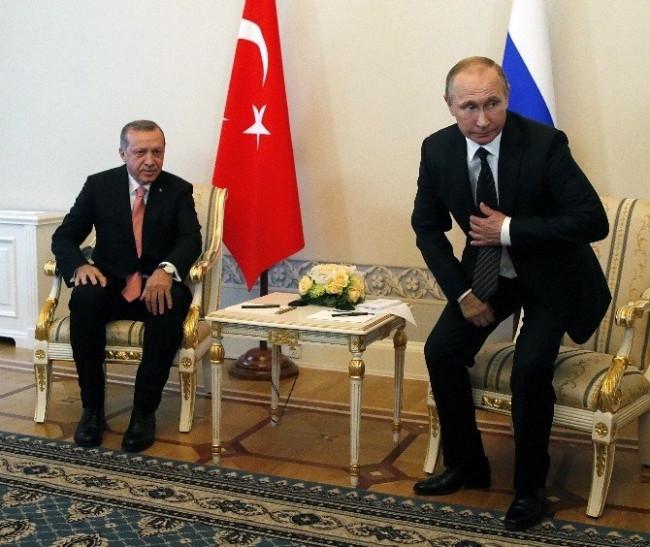 Putin Erdoğan'ı böyle karşıladı