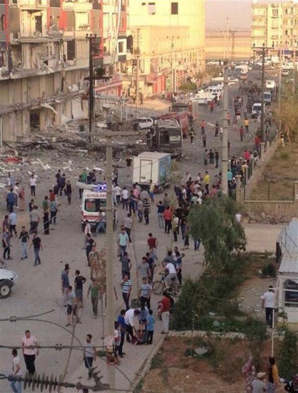Mardin'de hastane önünde patlama !