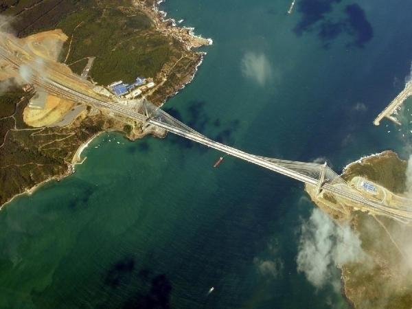 3. Köprü, 5 bin metreden görüntülendi