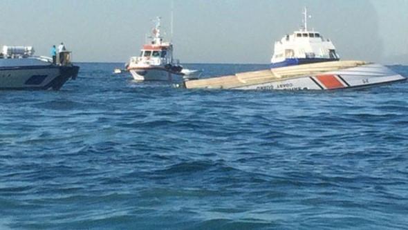 İstanbul'da Sahil Güvenlik botu battı: 3 şehit