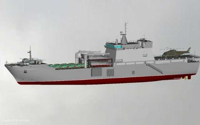Milli amfibi Sancaktar gemisi denize iniyor