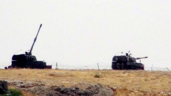 Şanlıurfa'da tank namluları Cerablus'a çevrildi