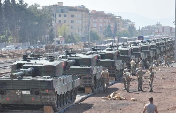 Gaziantep'e 105 tank gönderildi !