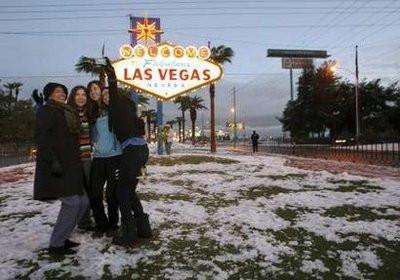 Çölün ortasına kar yağdı !