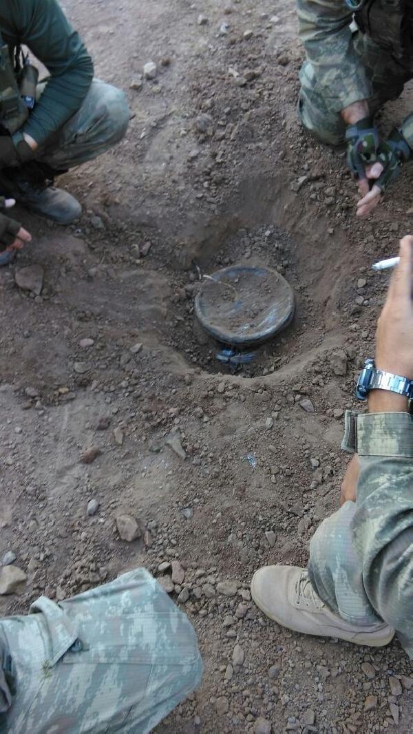 PKK'nın el yapımı patlayıcıları imha edildi