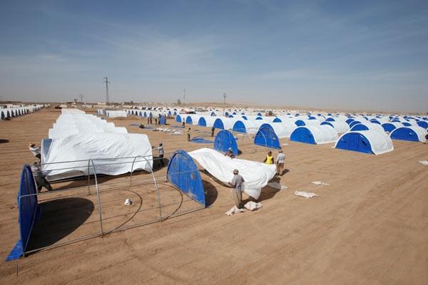 Savaş kapıda ! Yeniden çadır kent kuruluyor