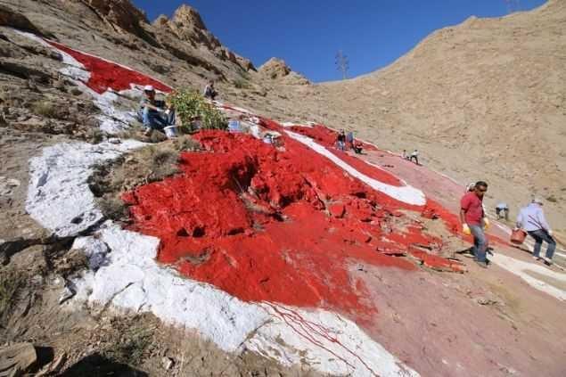 Türkiye'nin en büyük kaya haritasına 15 Temmuz dokunuşu