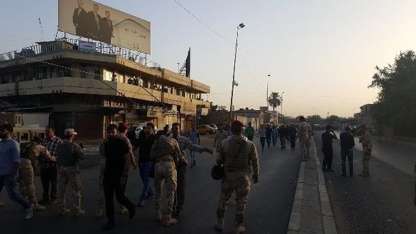 Türkiye'nin Bağdat Büyükelçiliği önünde protesto...
