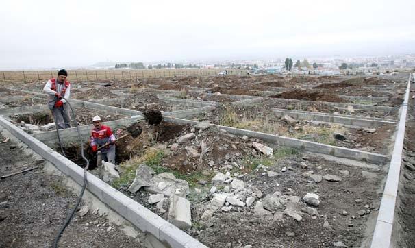 Erzurum'da 1000 kişilik mezar yeri kazıldı