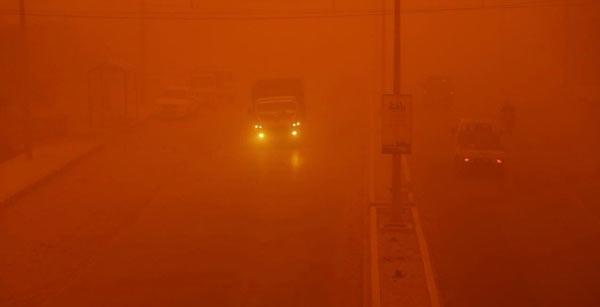 Musul operasyonuna kum fırtınası engeli