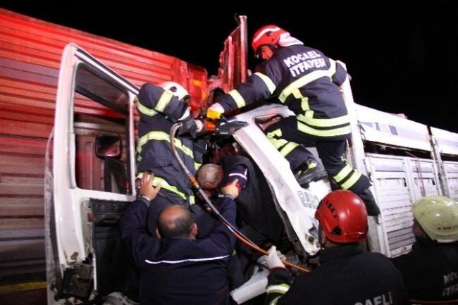 Kazada yaralanan sürücü herkesi şoke etti