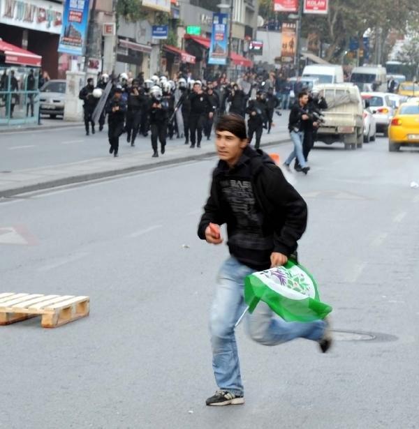 Şişli'de HDP eylemine polis müdahale etti