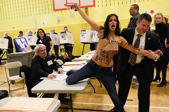 Donald Trump'a FEMEN'den protesto