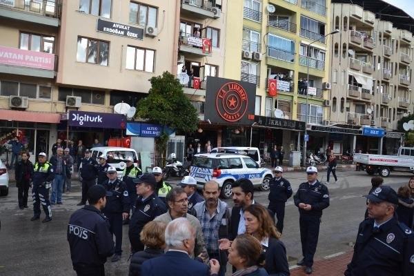 Aydın'da çelek krizi karakolda bitti