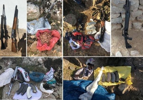 PKK'nın gömülü silah ve mühimmatı bulundu