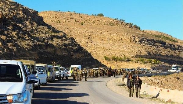 YPG'liler çekiliyor ! Görüntüleri yayınlandı
