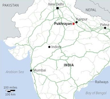 Hindistan'da tren faciası: 100 ölü