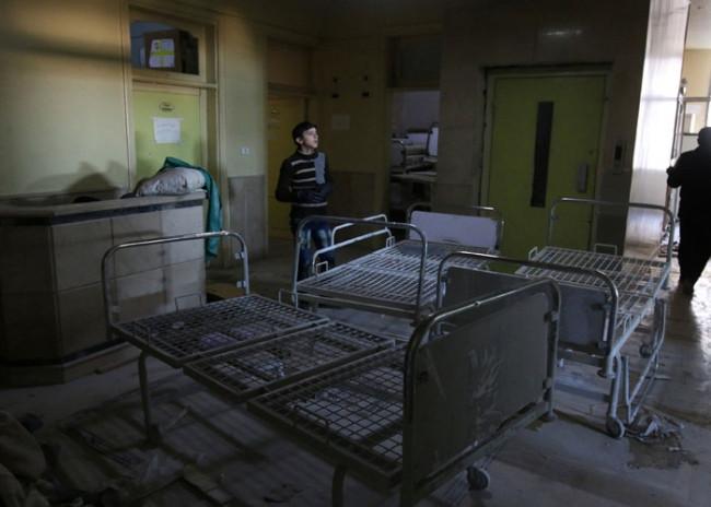Yürek yakan fotoğraflar ! Son hastaneyi de vurdular