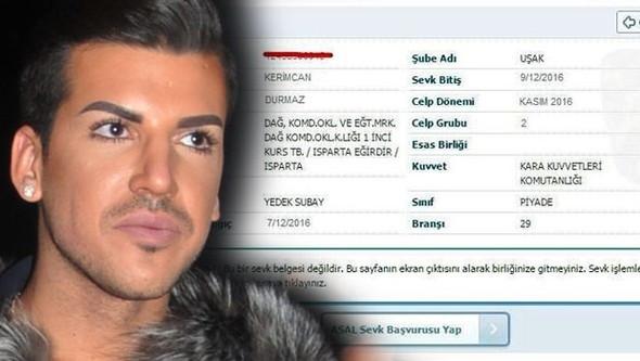 Kerimcan Durmaz'dan askerlik açıklaması