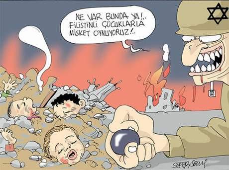 Karikatüristler İsrali böyle çizdi