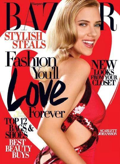 Scarlett Johansson kırmızılar içinde