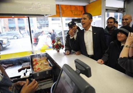 Obama halkın arasında