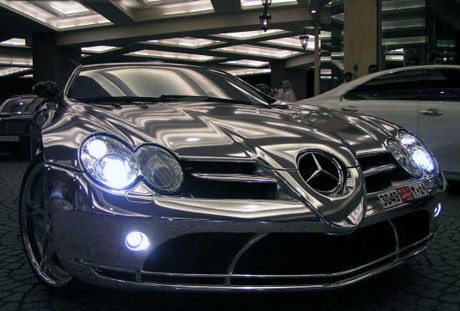Altın kaplama Mercedes !