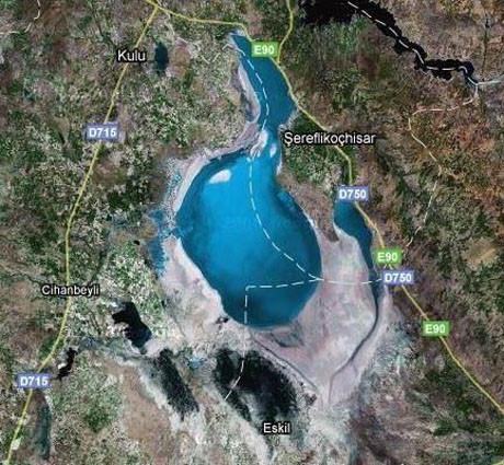Tuz gölü bu hale geldi