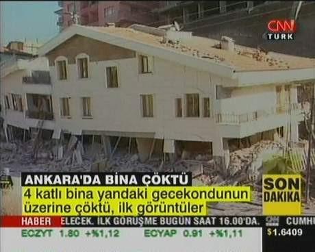 Ankarada bina çöktü !