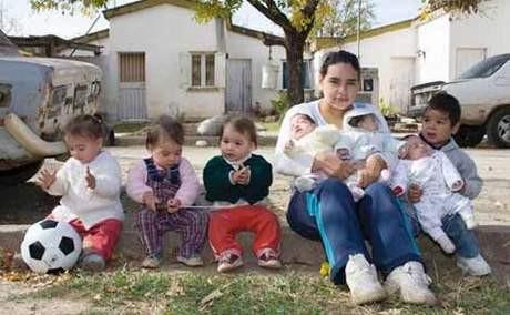17 yaşında 7 çocuk annesi