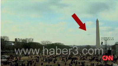 Obamanın yemininde UFO görüntülendi
