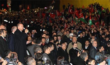 Erdoğana coşkulu karşılama!