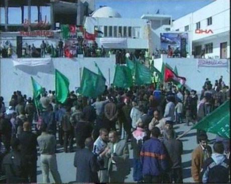 Gazzede Türk bayrakları !