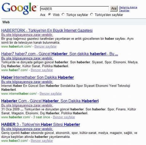 Google bozulursa..