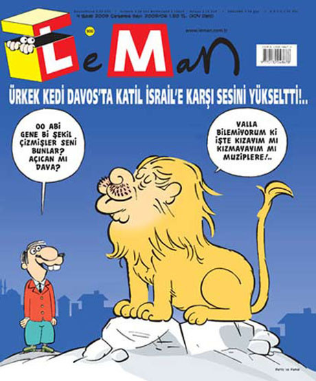 Davos karikatür oldu !